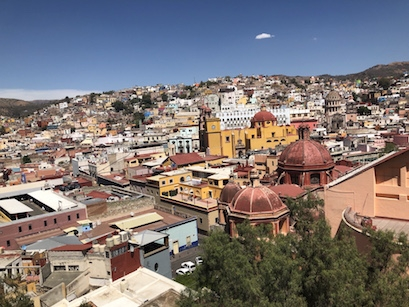A beautiful view of Guanajuato, Mexico from the tram