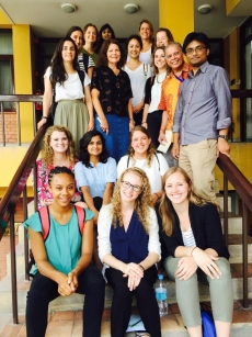 Group photo in front of the USAID office in Kathmandu