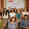 Group photo with our students and the host students in Nepal