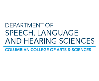 CCAS GWU Department of Speech, Language and Hearing Sciences large branding