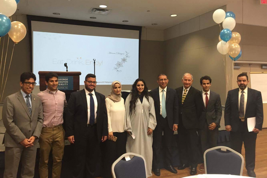 Rozana Saklou and other members of the Saudi Student Association at the Eid Al-Adha celebration.