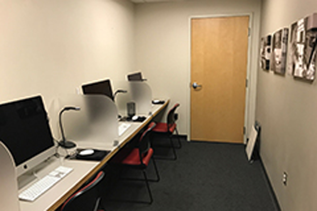The TeleRehab suite in the Speech and Hearing Center.