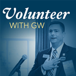 Volunteer with GW graphic.