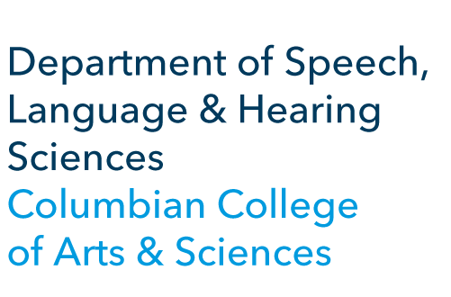 Department of Speech, Language & Hearing Sciences, Columbian College of Arts and Sciences logo